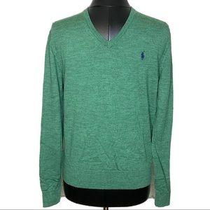 Polo Ralph Lauren 100% Merino Wool V Neck Sweater